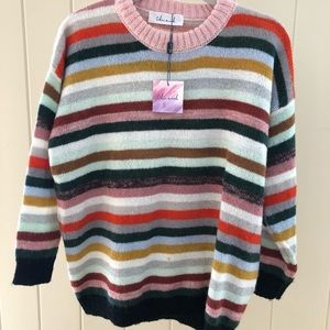 Chicwish Stripe Crew Sweater